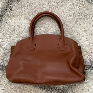 Medium leather bag.